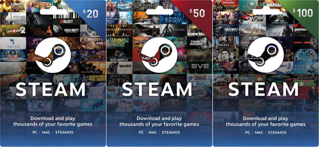 Steam Wallet Codes Giveaway